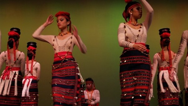 "Rachel dancing ""Banga"" with KARIKTAN Dance Company, 2008."