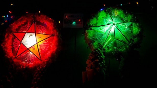 Red and Green Parol for 12 Days of Christmas, Filipino Style