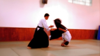 Sensei Ray Feliciano performing a high throw.